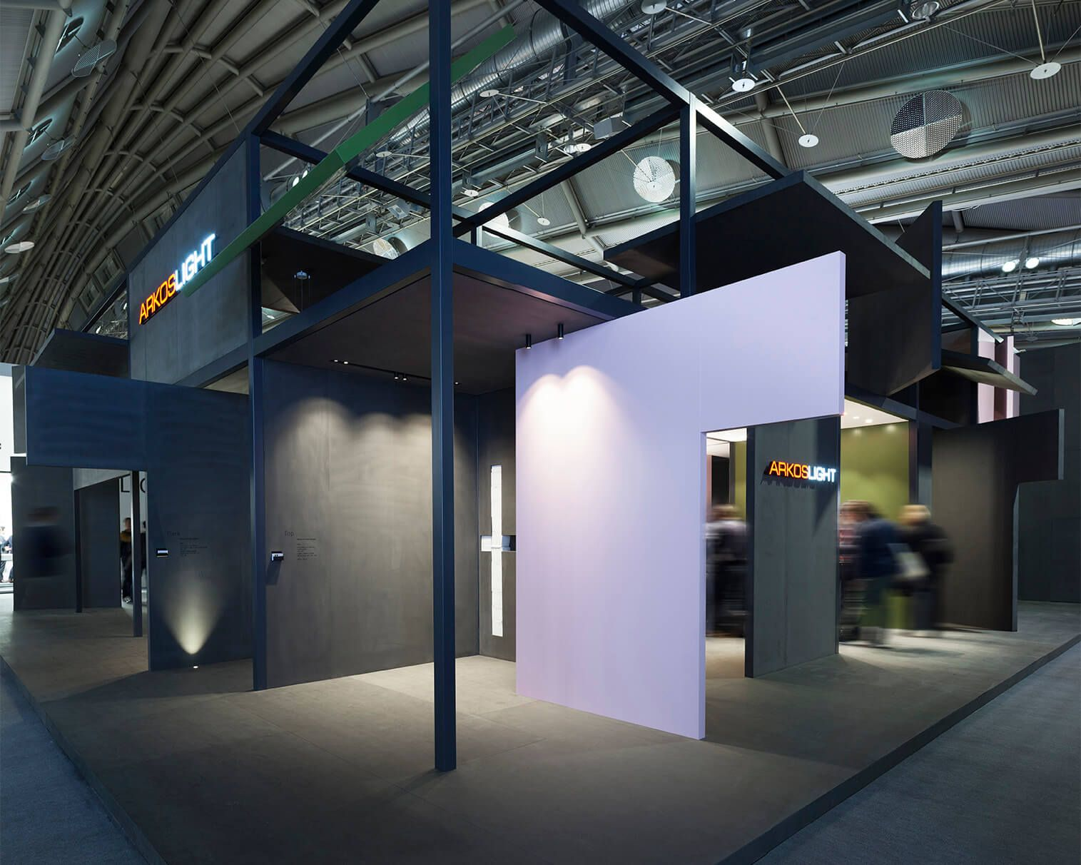 Expo Stands Lightsee : Arkoslights stand at light building closes its doors with an