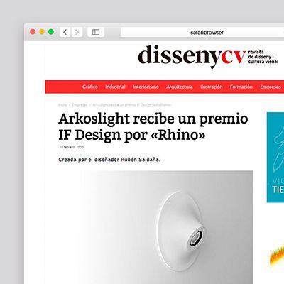 """Rhino wurde mit dem IF Design Award 2020 ausgezeichnet in """"Disseny 2020"""""""