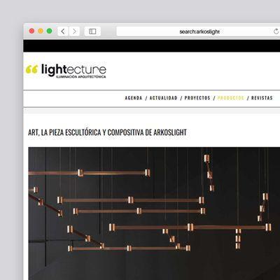 Art, «La pieza escultórica de Arkoslight» en Lightecture
